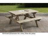 Kinder  picknicktafel 120 x 115 cm