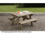 Kinder picknicktafel 90 x 90 cm
