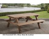 Picknicktafel 160 x 180 cm hardhout