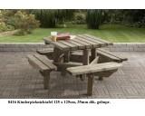 Kinder picknicktafel 125 x 125 cm