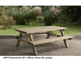 Picknicktafel 160 x 200 cm