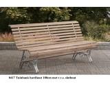 Tuinbank hardhout (Jatoba)180 cm met r.v.s slotbouten