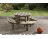 Kinder picknicktafel rond 130 cm