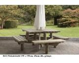 Picknicktafel 195x195 cm