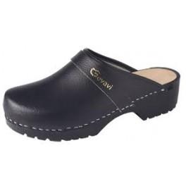 Gevavi - Dinan open schoenklomp PU zwart