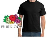 Fruit of the loom t-shirt zwart