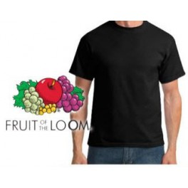 Internetshop Kleding.Fruit Of The Loom T Shirt Zwart Bigm Internetshop
