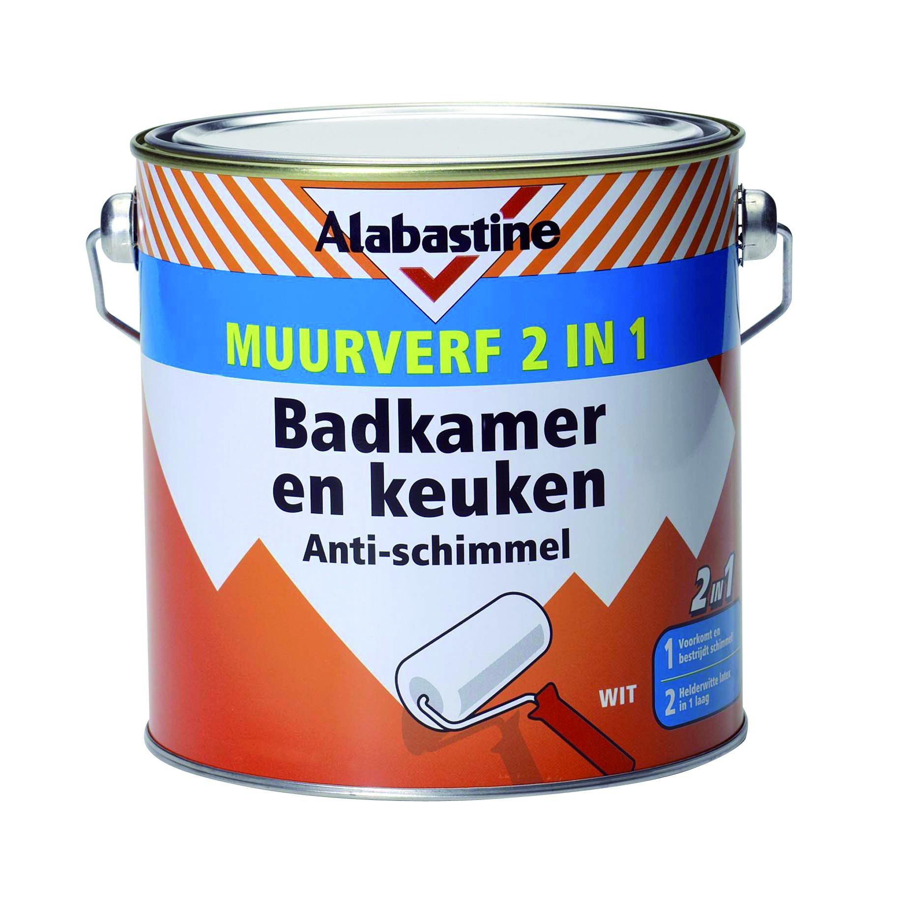 Alabastine muurverf 2-in-1 badkamer en keuken 2,5 liter - BigM ...