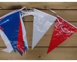 Vlaggenlijn van 20 punt vlaggen rood,wit,blauw,