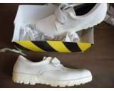 Gerba Werkschoenen wit + klittenband mt 47