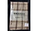 Bodema Tafelkleed Ruit. Ecru met bruin.100% Katoen 150x250cm