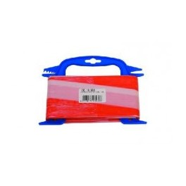 Afzetband 80mm breed. Rood/wit. Lengte 100m.
