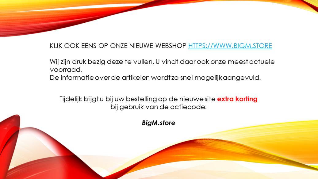 Korting ivm nieuwe webshop
